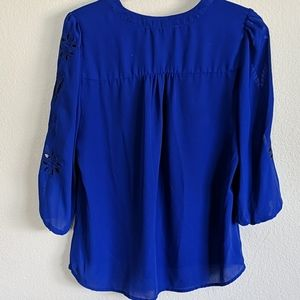 Brixon Ivy Tops - V-Neck 3/4 Sleeve Blouse